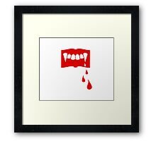 Another Bloody Vampire Book Framed Print