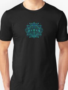 Modern Fashion Abstract Color Pattern in Blue / Green Unisex T-Shirt