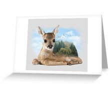 Baby Roe Deer Greeting Card