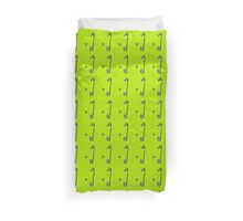 Sookie Skull Safety Pin Green  Duvet Cover