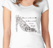 Strong Women and their Stilettos! - H Women's Fitted Scoop T-Shirt