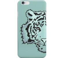 Blue Watercolor Tiger iPhone Case/Skin