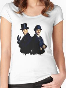 Victorian Holmes and Watson Women's Fitted Scoop T-Shirt