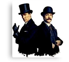 Victorian Holmes and Watson Canvas Print