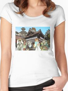 Cats in Kyoto Women's Fitted Scoop T-Shirt