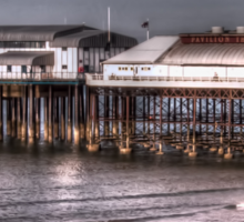 Cromer Pier and reflection Sticker