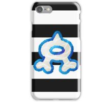 Team Aqua Stripes iPhone Case/Skin