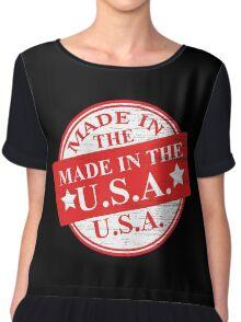 Made Usa Chiffon Top