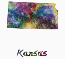 Kansas US state in watercolor Kids Clothes