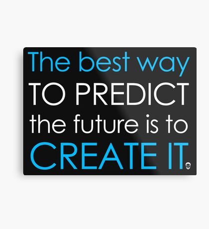 Create Your Future Sticker Metal Print