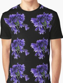 Purple Petal Clusters Graphic T-Shirt