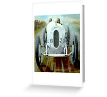 """MONACO GRAND PRIX"" Vintage Auto Race Print Greeting Card"