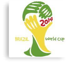 FIFA World Cup Logo Brazil 2014 with text Canvas Print