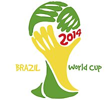 FIFA World Cup Logo Brazil 2014 with text Photographic Print