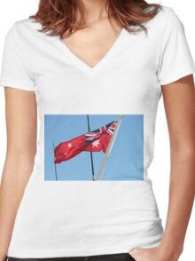 Flying a Red Flag Women's Fitted V-Neck T-Shirt