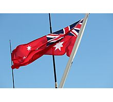 Flying a Red Flag Photographic Print