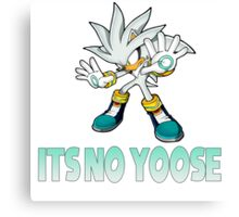 Silver The Hedgehog - It's no use  Canvas Print