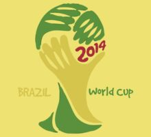 FIFA World Cup Logo Brazil 2014 with text Kids Clothes