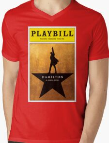 Hamilton broadway playbill Mens V-Neck T-Shirt
