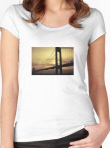 """""""Evening Flight"""" - Verrazano Bridge Women's Fitted Scoop T-Shirt"""