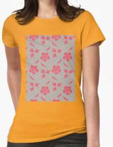 Jocelyn Floral Pattern Womens Fitted T-Shirt