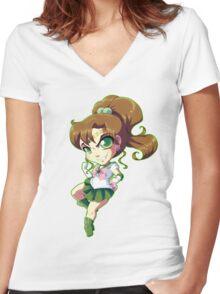 Sailor Moon: Sailor Jupiter Women's Fitted V-Neck T-Shirt