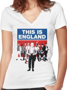 THIS IS ENGLAND MOVIE Women's Fitted V-Neck T-Shirt