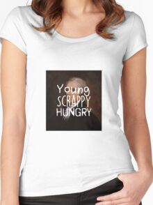 Young, Scrappy, Hungry - Alexander Hamilton portrait Women's Fitted Scoop T-Shirt
