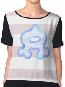 Aqua Baby Striped Chiffon Top