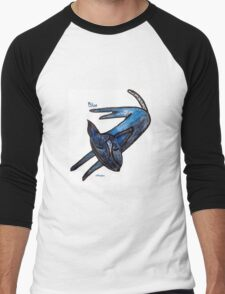 Blue (an Australian Blue Heeler) Men's Baseball ¾ T-Shirt