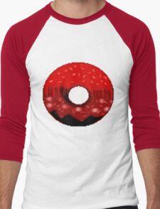 Volcanic doughnut scenery  Men's Baseball ¾ T-Shirt