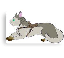 Cat Rider's Trusty Mount Canvas Print