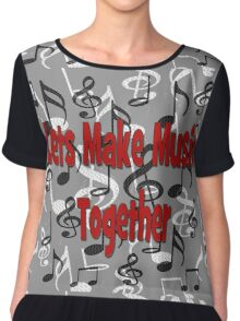 Let's Make Music Together Chiffon Top