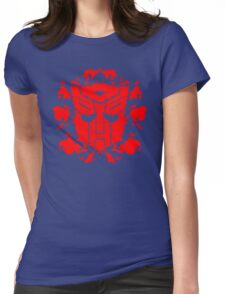 Autoblots (RED) Womens Fitted T-Shirt