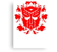 Autoblots (RED) Canvas Print