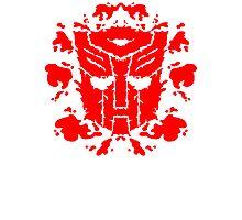 Autoblots (RED) Photographic Print