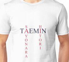 Sayonara Hitori Taemin simple text design Unisex T-Shirt