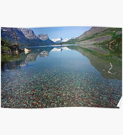Lake St Mary, Montana Poster