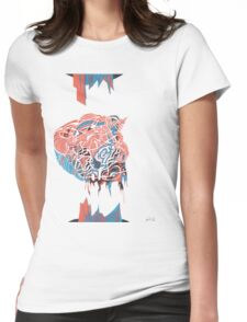 Wet-Electric-Brain Womens Fitted T-Shirt