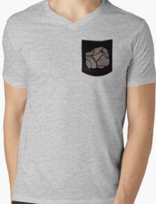 Pokemon Rock Type Pocket Mens V-Neck T-Shirt