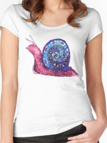 Trippy Snail Women's Fitted Scoop T-Shirt
