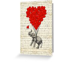 Elephant and love heart Greeting Card