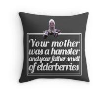 Monty Python - French Taunter (White font) Throw Pillow