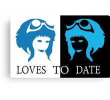 Loves to Date (Ramona Flowers) Canvas Print