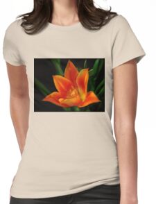 Orange Flower (full view) Womens Fitted T-Shirt