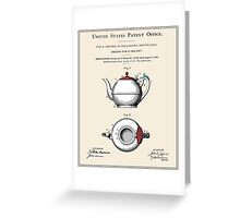 Tea Pot Patent Greeting Card
