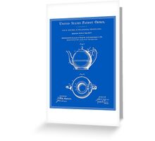 Tea Pot Patent - Blueprint Greeting Card