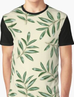 Painted leaves pattern Graphic T-Shirt