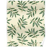 Painted leaves pattern Poster
