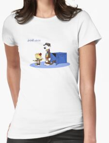 MR.calvin  Womens Fitted T-Shirt